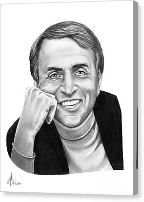 Carl Sagan Canvas Print by Murphy Elliott