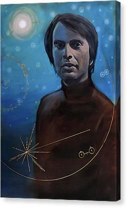 Carl Sagan- Voyager Canvas Print