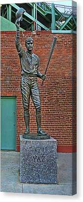 Carl Yastrzemski Statue - Fenway Park Canvas Print