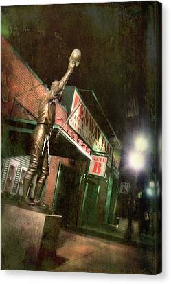Carl Yastrzemski Statue - Fenway Park Boston Canvas Print by Joann Vitali