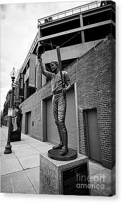 Carl Yastrzemski Canvas Print - carl yastrzemski yaz statue at Fenway park home of the Boston Redsox USA by Joe Fox