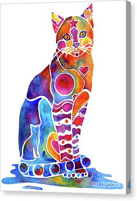 Carley Cat Canvas Print by Jo Lynch