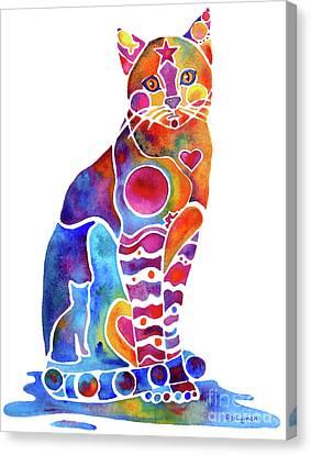 Carley Cat Canvas Print by Jo Lynch