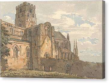 Carlisle Cathedral, Cumberland, From The South-west  Canvas Print by Thomas Girtin