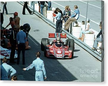 Canadian Grand Prix Canvas Print - Carlos Pace. 1976 Canadian Grand Prix by Oleg Konin