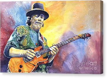 Carlos Santana Canvas Print by Yuriy Shevchuk