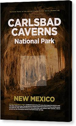 Carlsbad Caverns National Park In New Mexico Travel Poster Series Of National Parks Number 09 Canvas Print by Design Turnpike