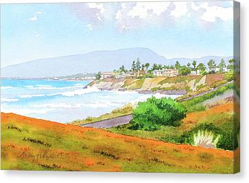 Carlsbad Rt. 101 Sunny Day Canvas Print