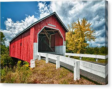 Covered Bridges Canvas Print - Carlton Bridge by Fred LeBlanc