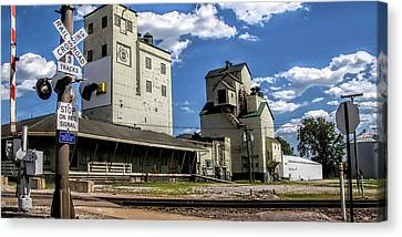 Carlton Michigan Feed Mill Canvas Print by Pat Cook