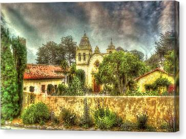 Carmel Mission Church 2 Canvas Print by Reese Lewis