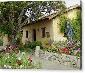 Carmel Mission Grounds Canvas Print by Gordon Beck