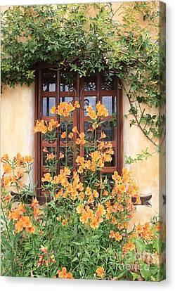 Carmel Mission Window Canvas Print by Carol Groenen