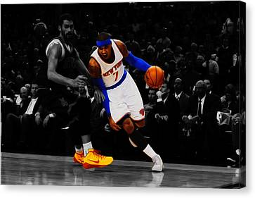 Carmelo Anthony Canvas Print by Brian Reaves
