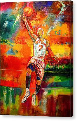 Carmelo Anthony New York Knicks Canvas Print by Leland Castro