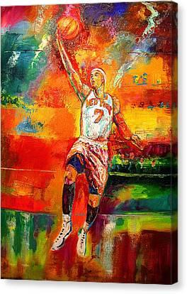 Carmelo Anthony New York Knicks Canvas Print by Leland Castro