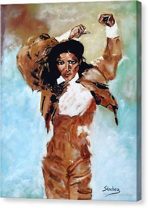 Carmen Amaya Canvas Print by Manuel Sanchez