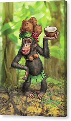 Carmen Coconuts Canvas Print