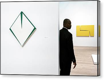 Carmen Herrera At The Whitney 1 Canvas Print by Frank Winters