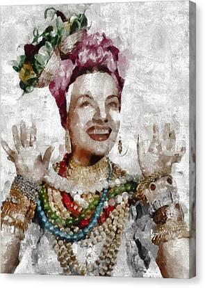 Carmen Miranda, Actress Canvas Print by Mary Bassett