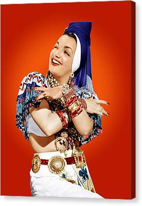 Carmen Miranda, Ca. Mid-1940s Canvas Print by Everett