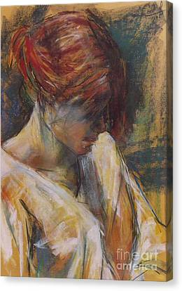 Canvas Print featuring the painting Carmen Of Lautrec II by Debora Cardaci