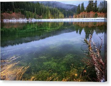 Canvas Print featuring the photograph Carmen Reservoir by Cat Connor
