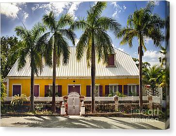 Charming Historic House In St Thomas Canvas Print by George Oze