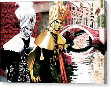 Carnevale Venecia - Commissioned Oil Painting Now In Print Canvas Print