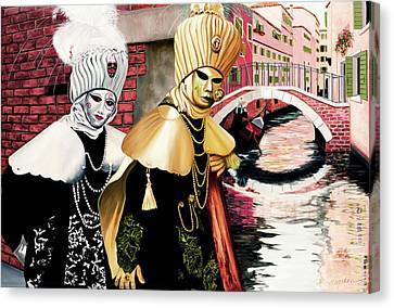 Carnevale Venezia - Prints From Original Oil Painting Canvas Print
