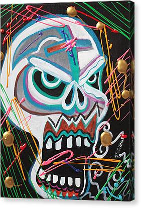 Carnie Skull Canvas Print by Laura Barbosa