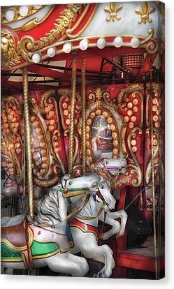 Carnival - The Carousel Canvas Print by Mike Savad