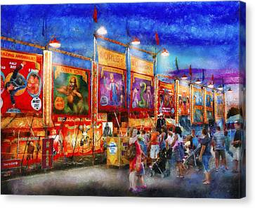 Carnival - World Of Wonders Canvas Print by Mike Savad