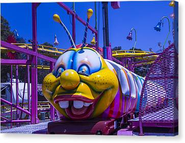 Carnival Caterpillar Ride Canvas Print by Garry Gay