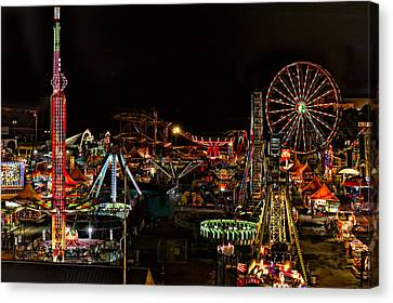 Canvas Print featuring the photograph Carnival Midway by Linda Constant