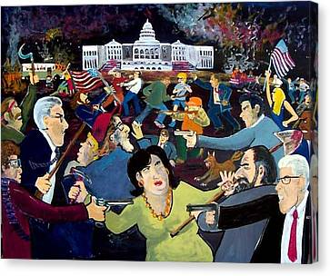Carnival Of Democracy Canvas Print by Richard  Hubal
