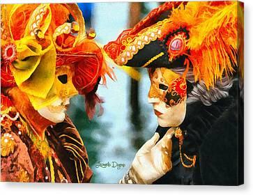 Carnival Of Venice - Da Canvas Print by Leonardo Digenio