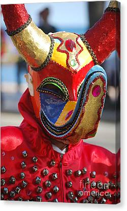 Carnival Red Duck Portrait Canvas Print