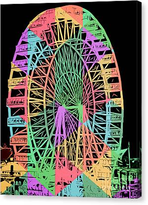 Cardboard Canvas Print - Carnival Ride by Edward Fielding