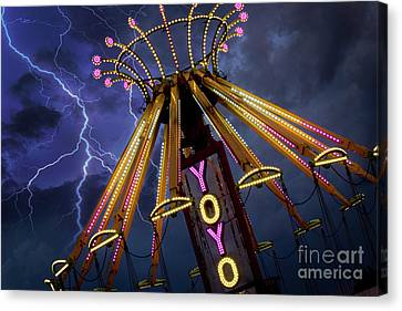 Carnival Ride Canvas Print by Juli Scalzi