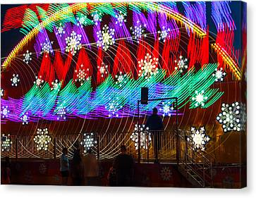 Farm Stand Canvas Print - Carnival Ride Rainbow Colors by Steven Bateson