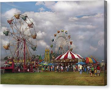 Carnival - Traveling Carnival Canvas Print by Mike Savad