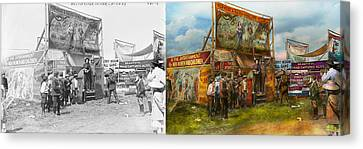Burmese Python Canvas Print - Carnival - Wild Rose And Rattlesnake Joe 1920 - Side By Side by Mike Savad