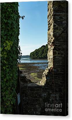 Canvas Print featuring the photograph Photographs Of Cornwall Carnon Mine Window by Brian Roscorla