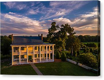 Carnton Plantation Canvas Print - Carnton At Sunset by Ken Everett