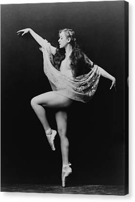 Carol Bergman, A Ziegfeld Girl Posed Canvas Print by Everett