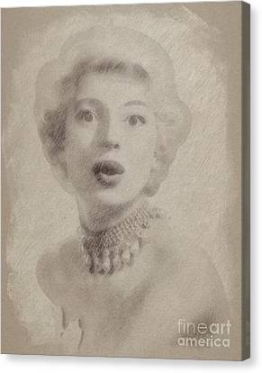 Carol Channing, Actress Canvas Print by Frank Falcon