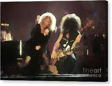 Slash Canvas Print - Carol King And Slash Painting by Concert Photos
