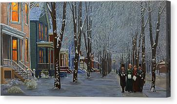 Carolers Canvas Print