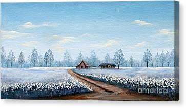 Carolina Cottonfield Canvas Print